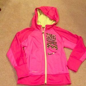 Girls Nike zip up hooded jacket